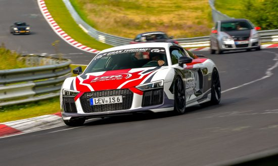 Audi R8 V10 supercharger tuned driving
